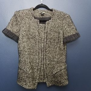 ZAC POSEN Tweed Blazer 12 Black & White